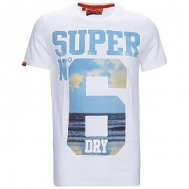 Tee Shirt Blanc No 6 Homme Superdry