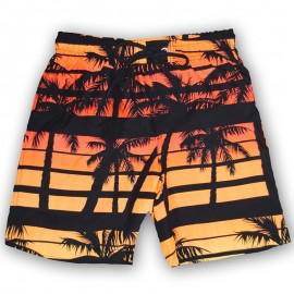 Short de Bain Natation orange Garçon Sun Project