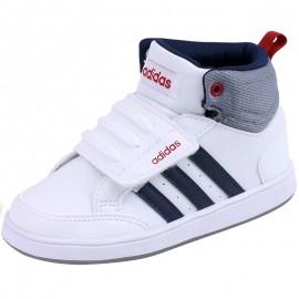 Chaussures Montante Blanc Hoops CMF Bébé Garçon Adidas