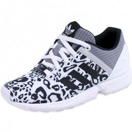 Chaussures Blanc ZX Flux Split Fille Adidas