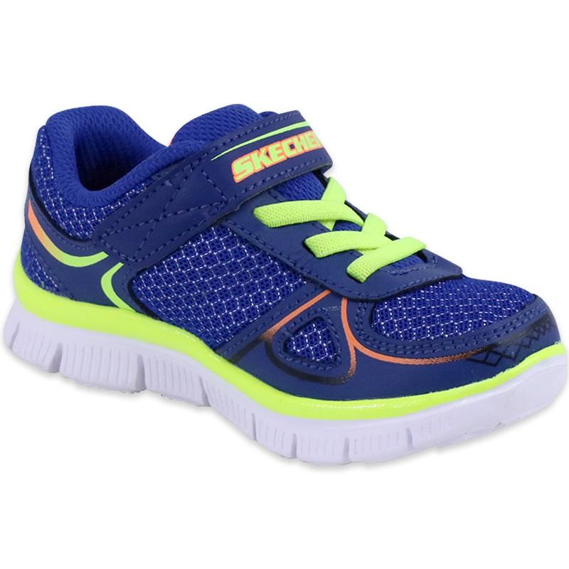 Chaussures à élastique Skechers Flex advantage bleues garçon SPGnt