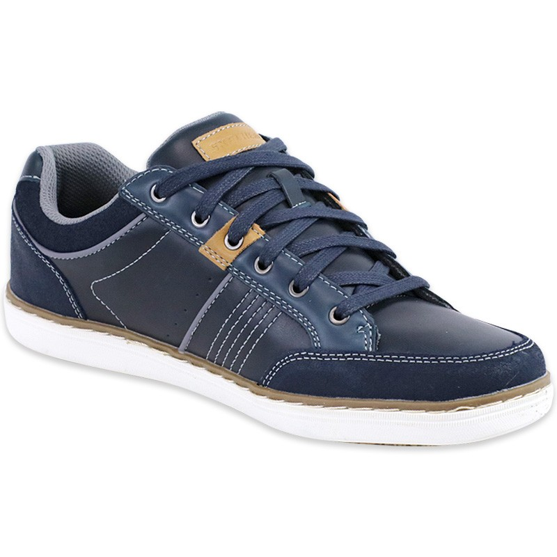 chaussures bleu lanson rometo homme skechers baskets. Black Bedroom Furniture Sets. Home Design Ideas