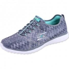 Chaussures Gris Burst Running Femme Skechers
