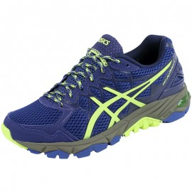 Chaussures Bleu Gel Fuji Trabuco 4 Trail/Running Femme Asics