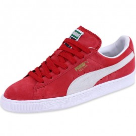 Chaussures Rouge Suède Classic Homme Puma