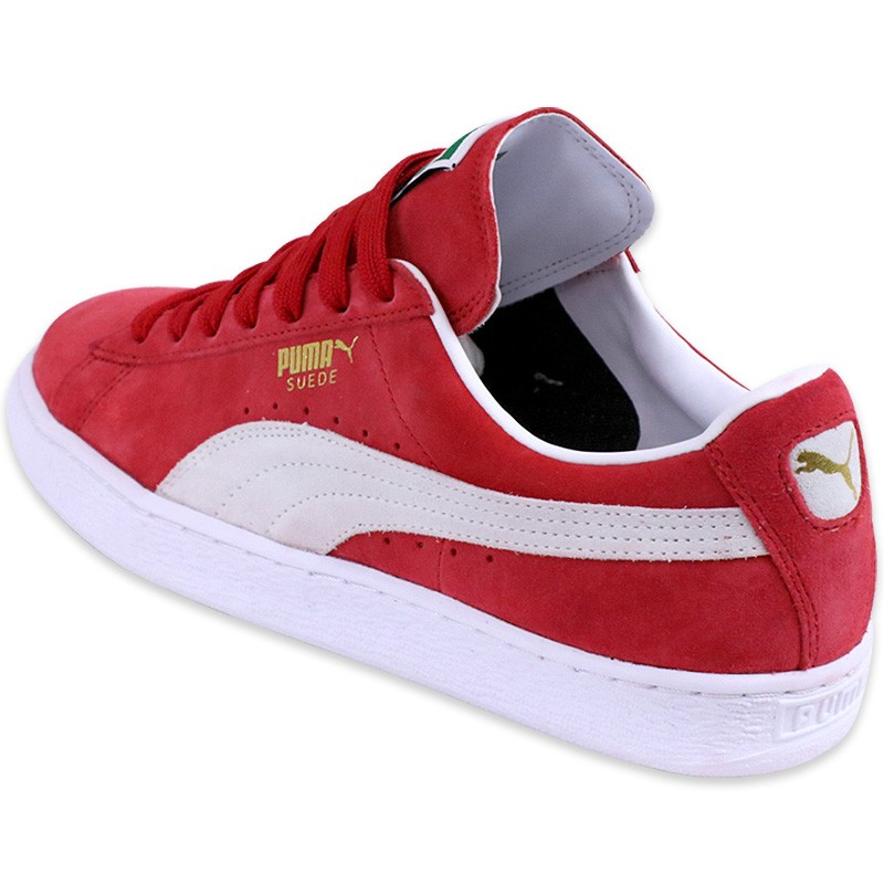 Chaussures-Rouge-Suede-Classic-Garcon-Homme-Puma
