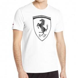 Tee-shirt Big Shield blanc Ferrari Homme Puma
