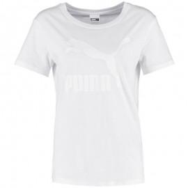 Tee shirt LOGO TEE blanc Femme Puma