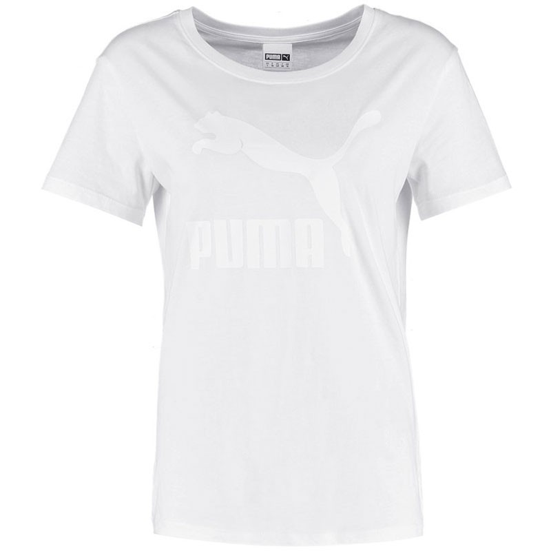 tee shirt logo tee blanc femme puma t shirts. Black Bedroom Furniture Sets. Home Design Ideas