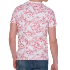 Tee Shirt TIKI Club AOP blanc Homme Superdry