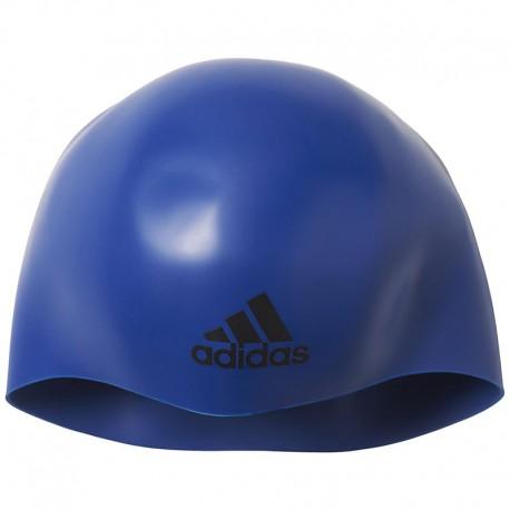 bonnet de bain silicone 3d bleu natation homme femme adidas natation. Black Bedroom Furniture Sets. Home Design Ideas