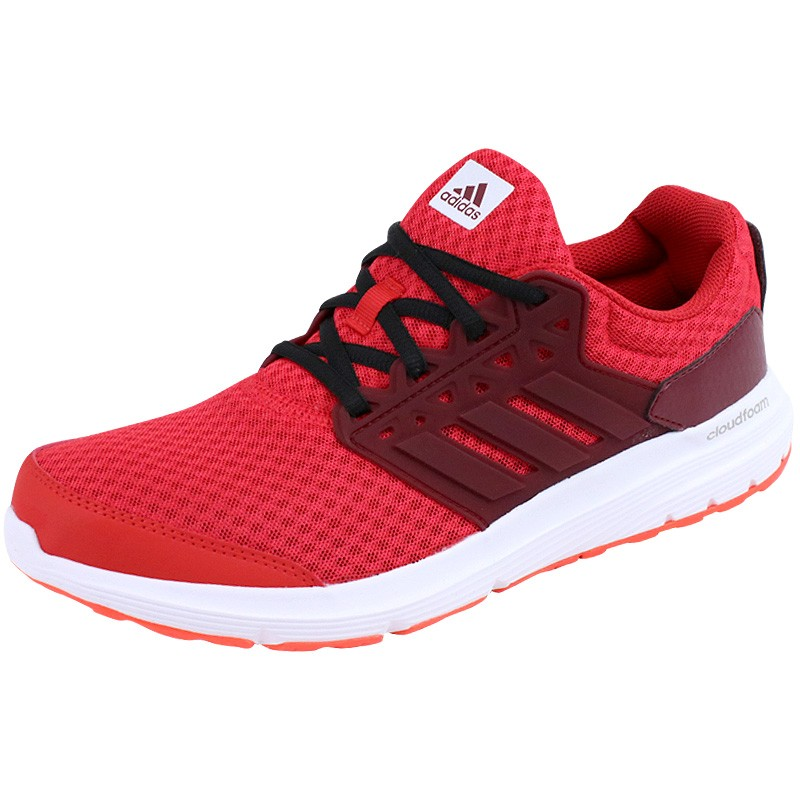 Adidas 3 Running Chaussures De Homme Rouge Galaxy q64ywxF7