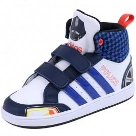Chaussures Montantes Blanc Hoops CMF Police Bébé Garçon Adidas