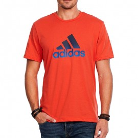 Tee Shirt AESS LOGO rouge Homme Adidas