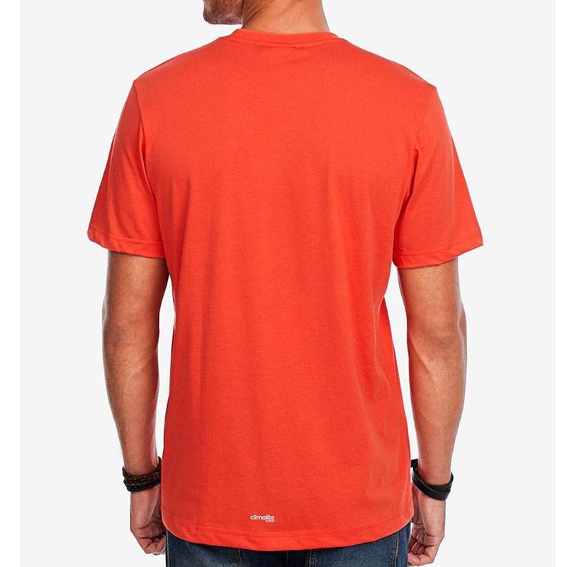 Tee Shirt AESS LOGO rouge Homme Adidas T shirts