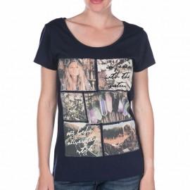 Tee Shirt Wild marine Femme Deeluxe