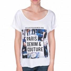 Tee Shirt FASHION blanc Fille Deeluxe
