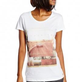 Tee Shirt ROADTRIP blanc Femme Deeluxe