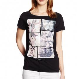 Tee Shirt TATOO noir Femme Deeluxe