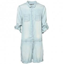 Combi-short WEARY denim bleu Femme Deeluxe