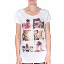 Tee Shirt PATCH Blanc Femme Deeluxe
