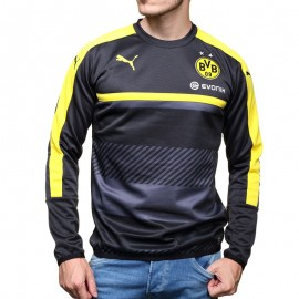 Sweat Entrainement Borussia Dortmund 2016-2017 Football Noir Garçon Puma