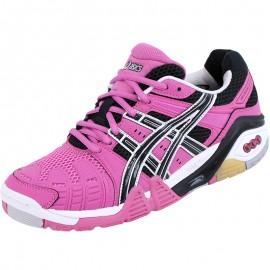 Chaussures Gel Cyber Power Sport en Salle Rose Femme Asics