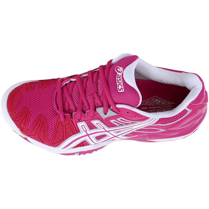 Rose Chaussures 5 Gel Resolution Tennis Femme Asics De FK1Jcl