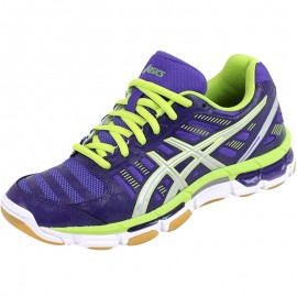 Chaussures Gel Cyber Shot Volley-Ball Violet Femme Asics