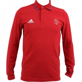 Polo FFR Rugby Rouge Homme Adidas