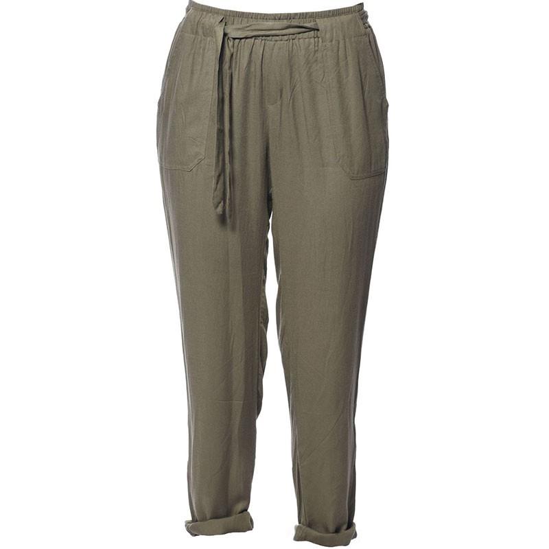 Pantalon fluide ELIDA Kaki Fille Deeluxe