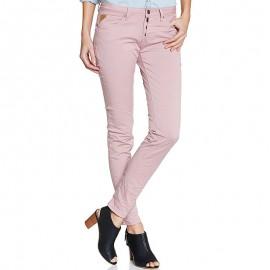 Pantalon Chino GINGER Vieux Rose Femme Deeluxe