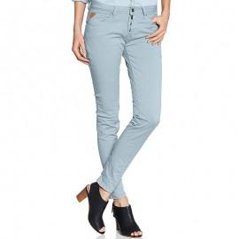 Pantalon Chino GINGER Bleu Femme Deeluxe
