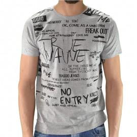 Tee shirt LOUTA Gris Homme Biaggio