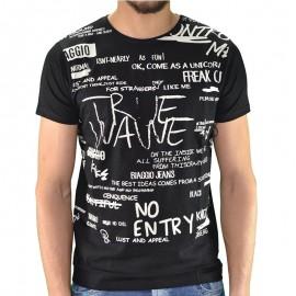 Tee shirt LOUTA Noir Homme Biaggio