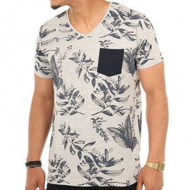 Tee shirt LOFITA Gris Homme Biaggio