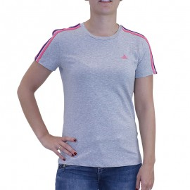 Tee shirt ESS 3S TEE Entrainement Gris Femme Adidas