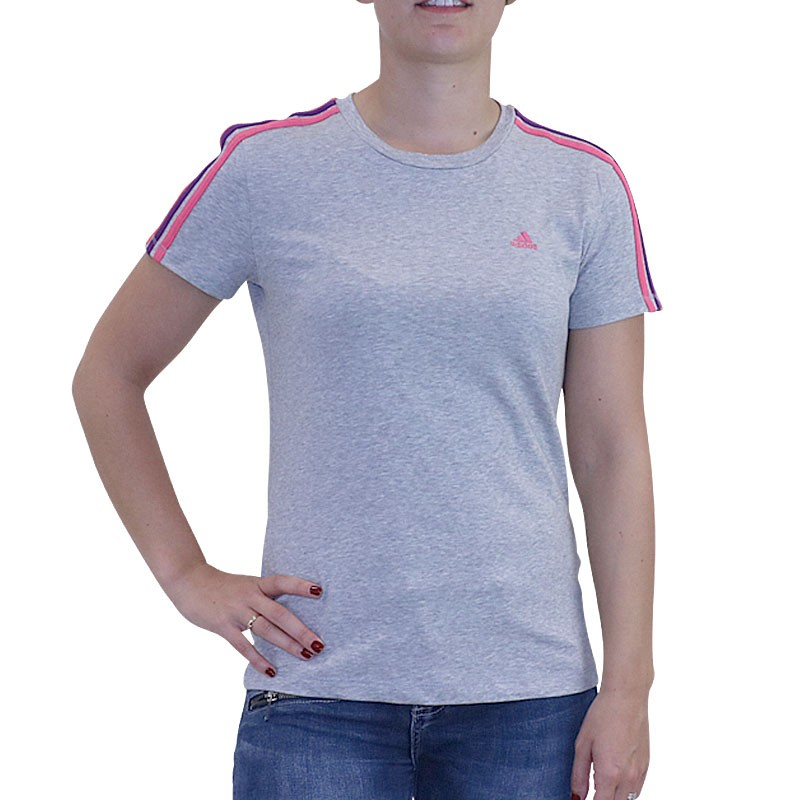 Tee shirt ESS 3S TEE Entrainement Gris Femme Adidas T shirts