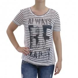 Tee Shirt ALISON marine Femme Deeluxe