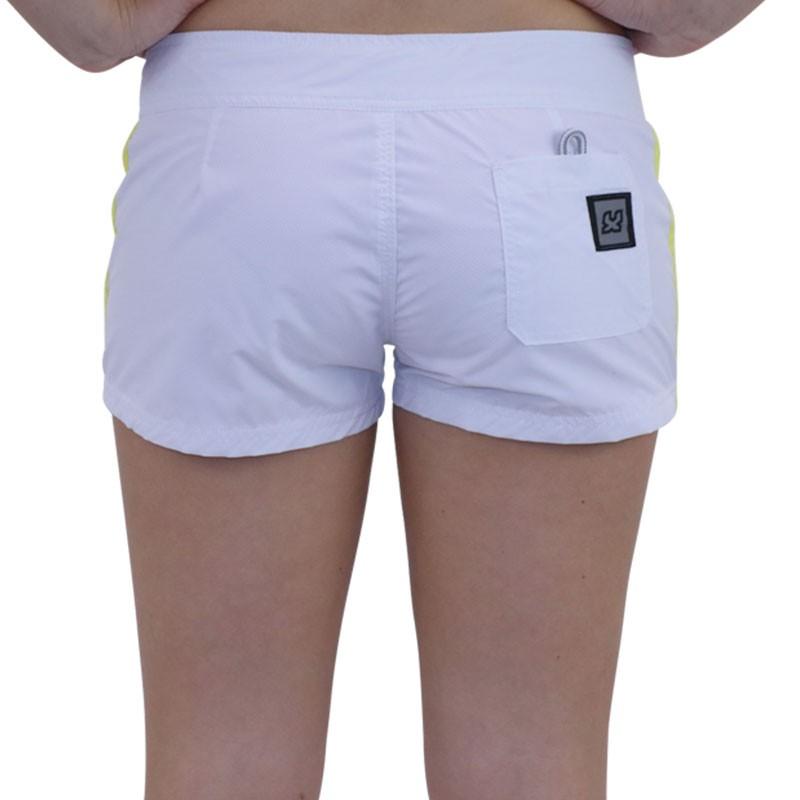 short de bain stripes blanc femme waxx maillots de bain. Black Bedroom Furniture Sets. Home Design Ideas