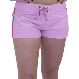 Short de bain STRIPES Rose Femme WAXX