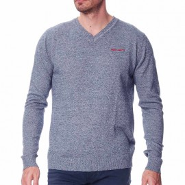Pull Pulser Mouline Marine Chiné Homme Teddy Smith
