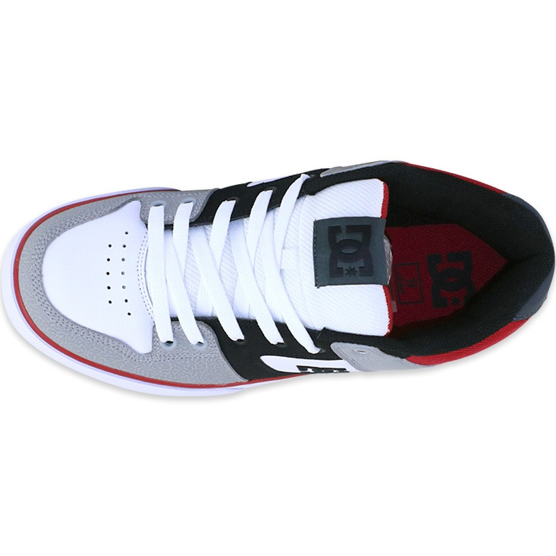 chaussures pure skateboard gris homme dc shoes baskets. Black Bedroom Furniture Sets. Home Design Ideas