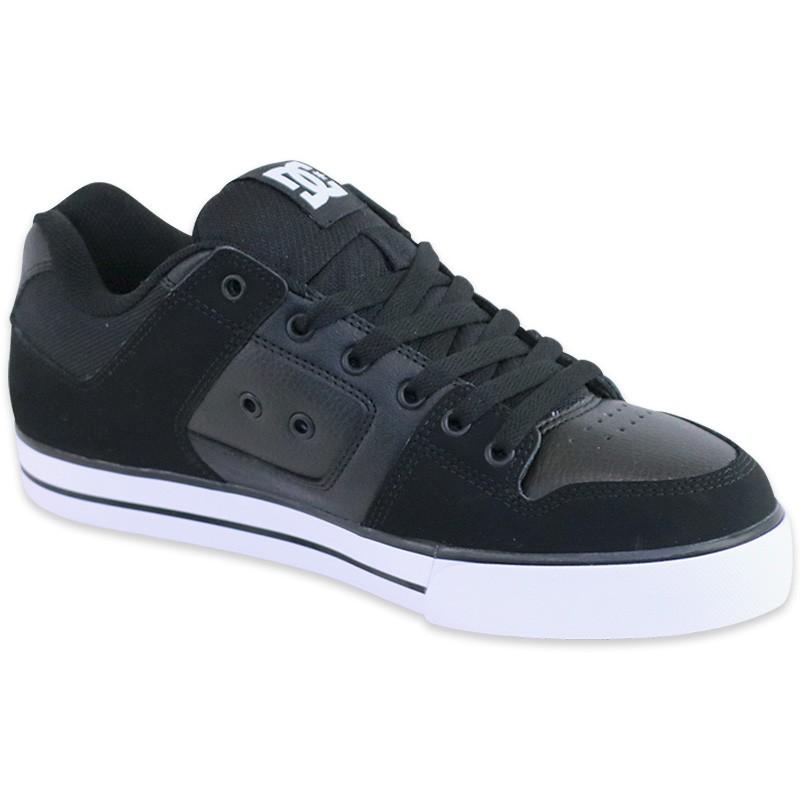 chaussures pure skateboard noir homme dc shoes baskets. Black Bedroom Furniture Sets. Home Design Ideas