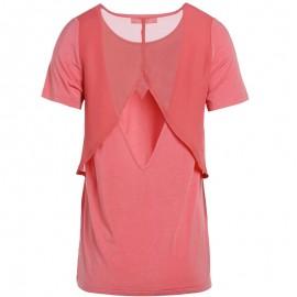 Tee-shirt TIARA Corail Femme Teddy Smith