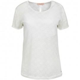 Tee-shirt TIZANE Ecru Femme Teddy Smith