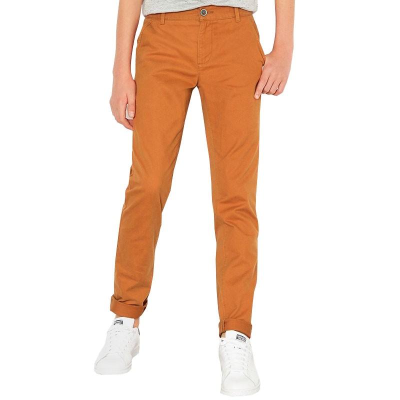 pantalon amber chino orange gar on teddy smith pantalons. Black Bedroom Furniture Sets. Home Design Ideas