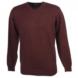 Pull Pulser Bordeaux chiné Homme Teddy Smith