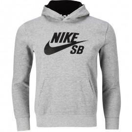Sweat à capuche Logo Fleece Gris Garçon Nike