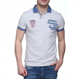 Polo REESEE Gris Homme Kaporal